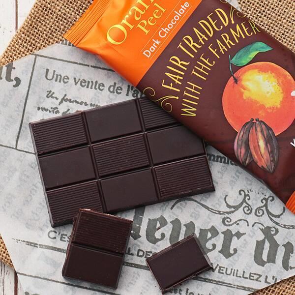 フェアトレードチョコレートオレンジピール:フェアトレードチョコレートオレンジピール