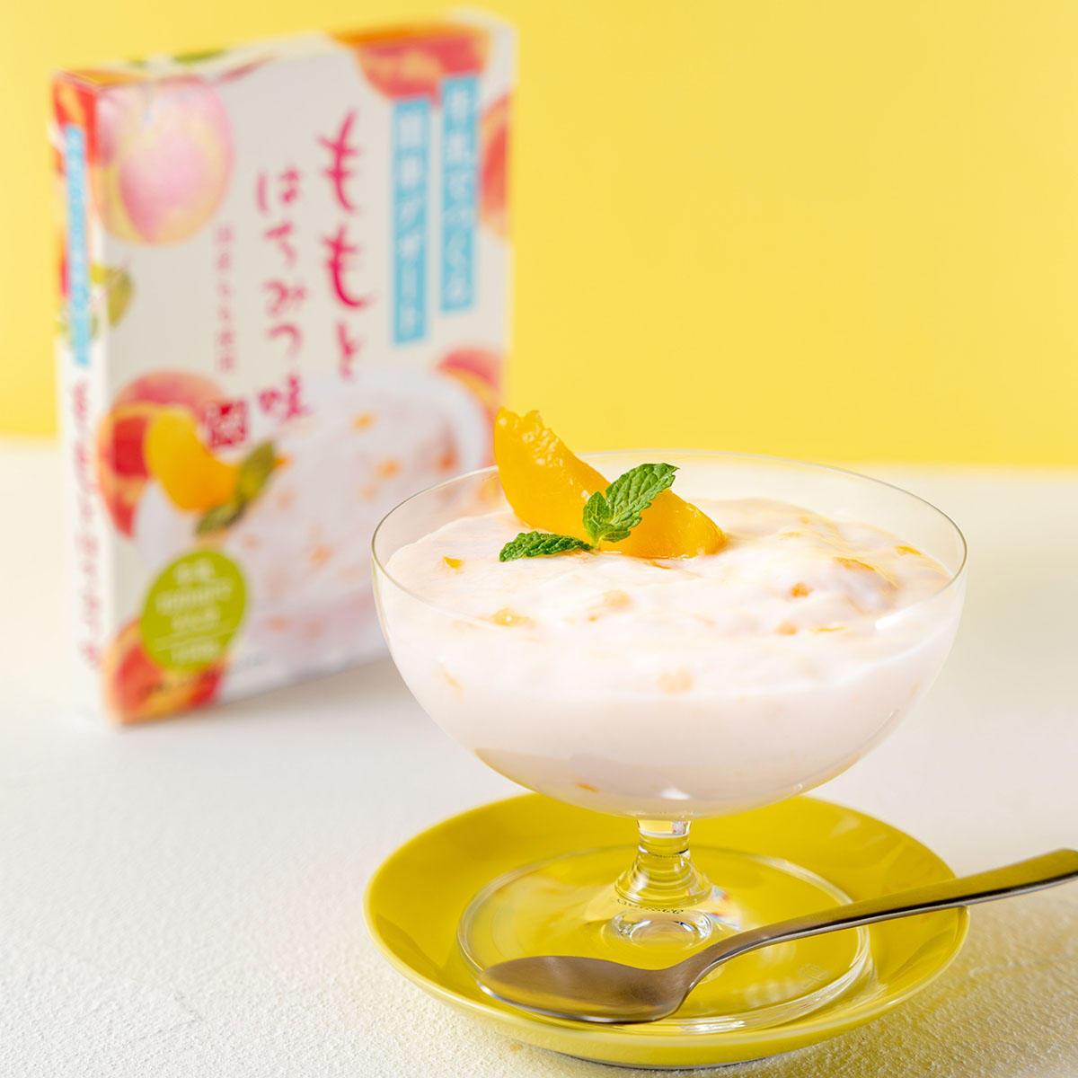 牛乳でつくる簡単デザート ももとはちみつ味:牛乳でつくる簡単デザート ももとはちみつ味