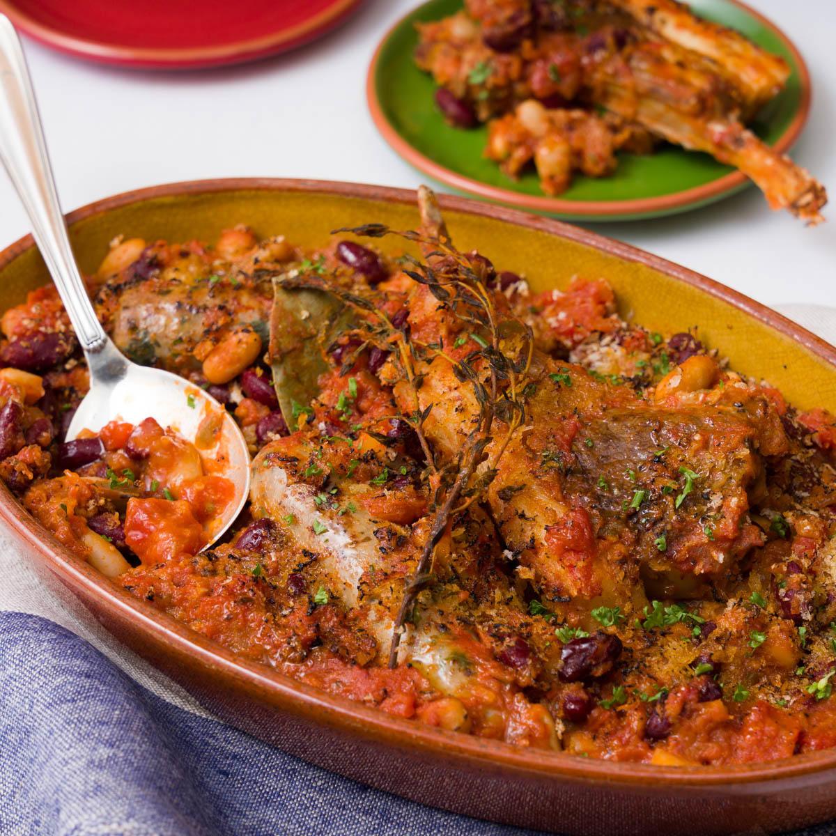 ラム肉と豆のカスレ風_メイン画像