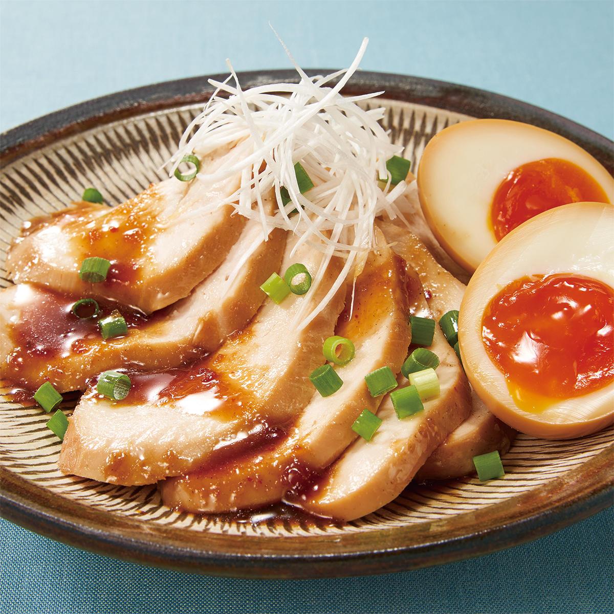 おいしい北海道202110_鶏チャーシュー&味玉