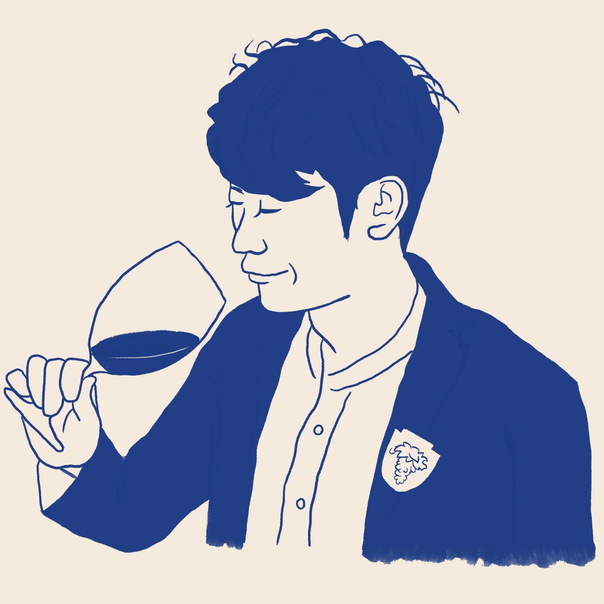 この夏のおすすめスパークリング_ワイン担当イラスト
